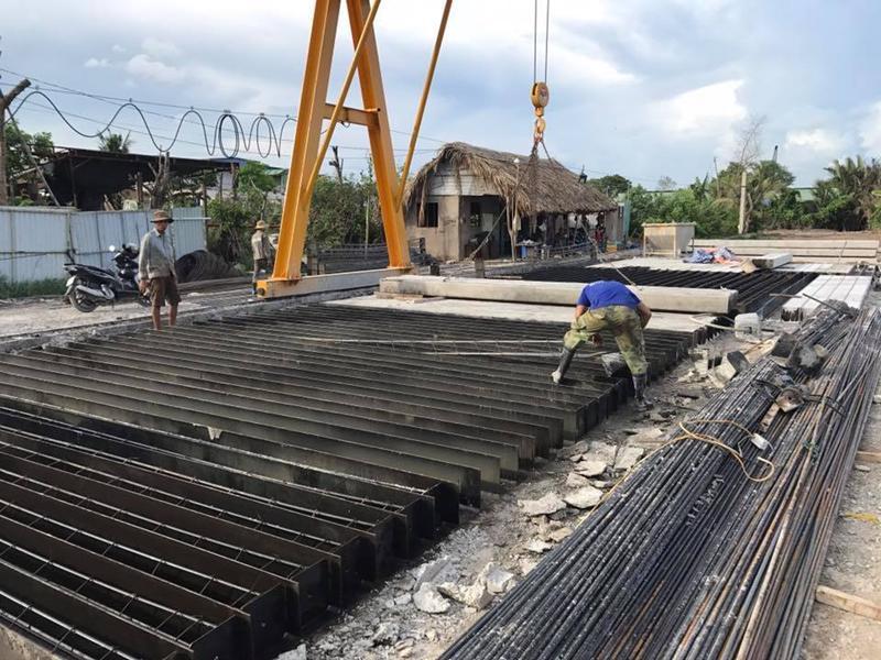 thi công sản xuất cọc bê tông cốt thép
