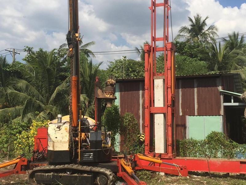 ép cọc bê tông tại xã Hóa An TP Biên Hòa