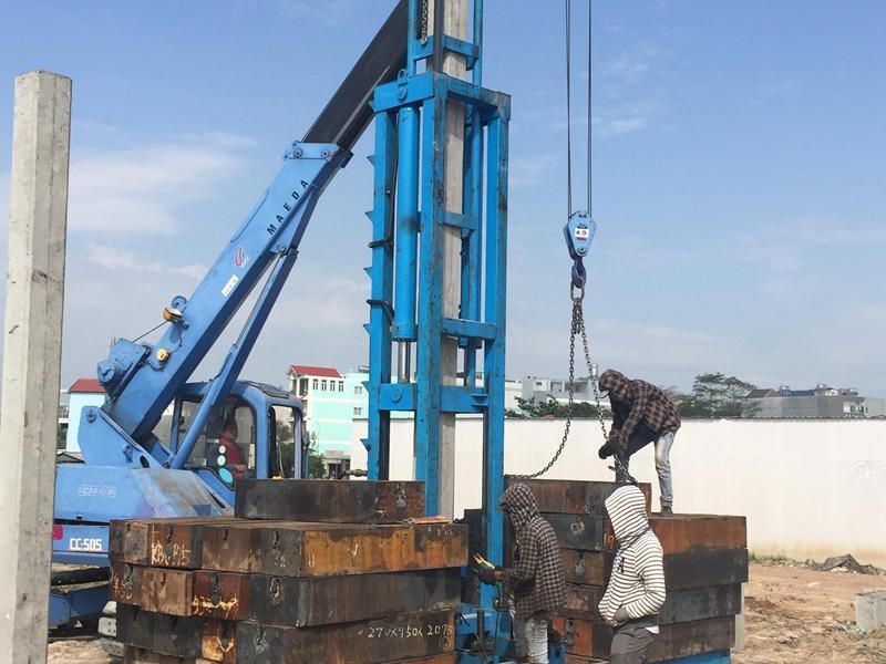 ép cọc bê tông tại xã Long Hưng TP Biên Hòa