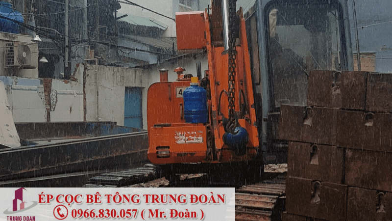 Dự án thi công ép cọc tại tỉnh Tiền Giang