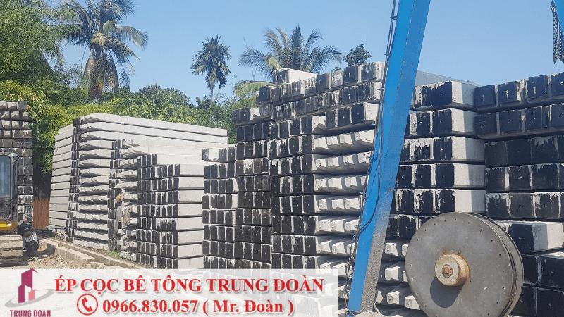 Sản xuất cọc bê tông tại phường Hòa Bình - Trung Đoàn