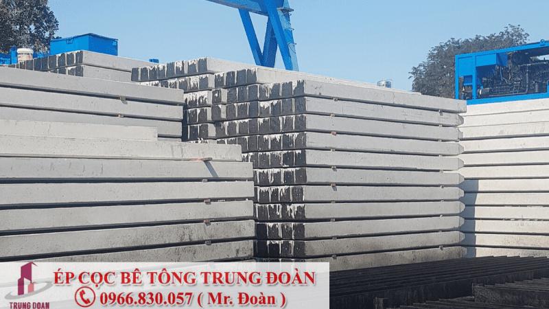 Nhận sản xuất và ép cọc bê tông tại Long An - Trung Đoàn