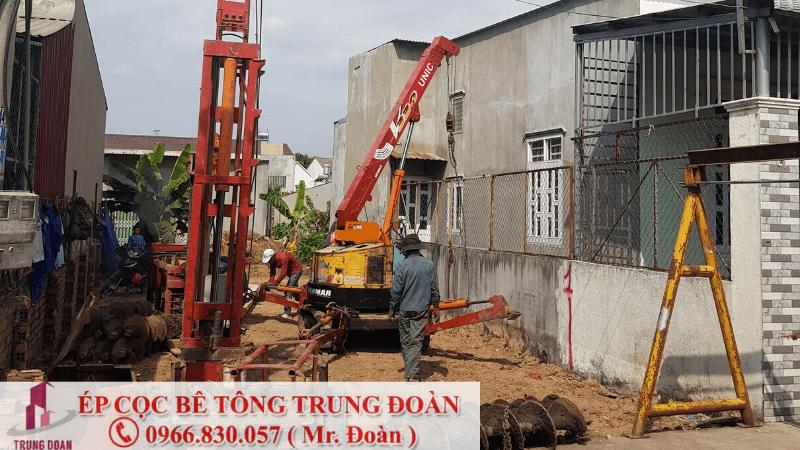 Ép cọc bê tông tại xã Bình Sơn huyện Long Thành