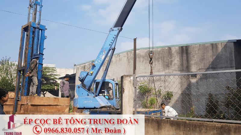 Ép cọc bê tông tại xã Bàu Cạn huyện Long Thành