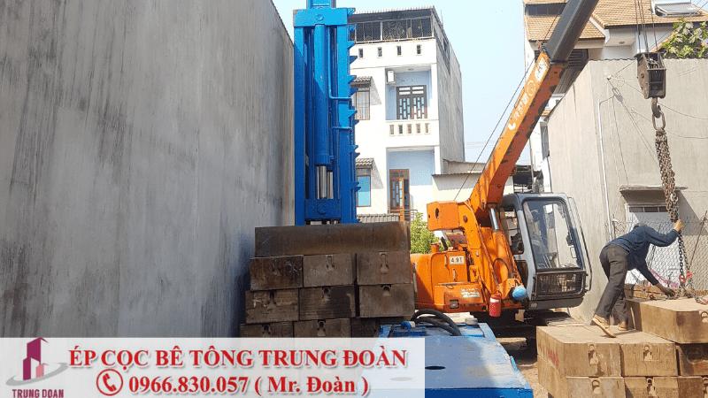 Ép cọc bê tông tại xã Long Phước huyện Long Thành
