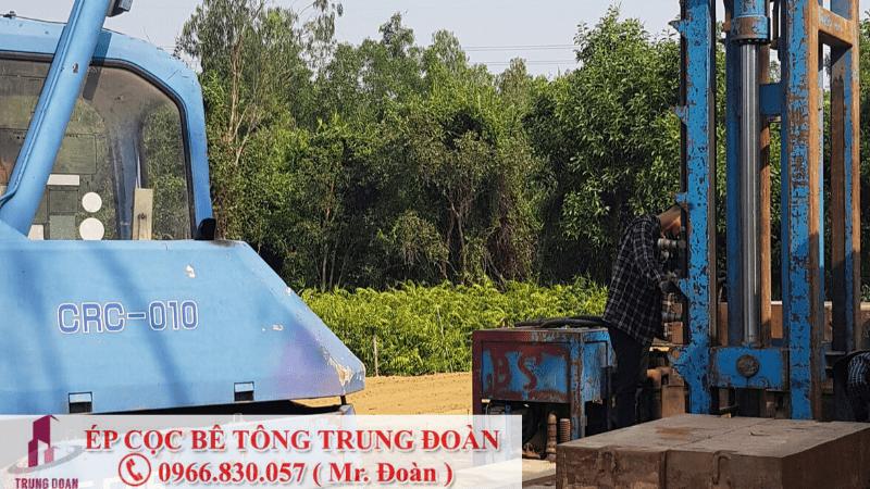 Công trình ép cọc bê tông tại xã Long Thọ huyện Nhơn Trạch