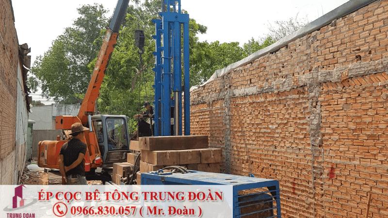 Ép cọc bê tông tại xã Phước Bình huyện Long Thành