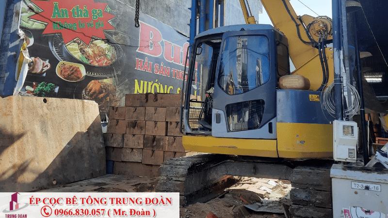 Ép cọc bê tông cho nhà dân dụng