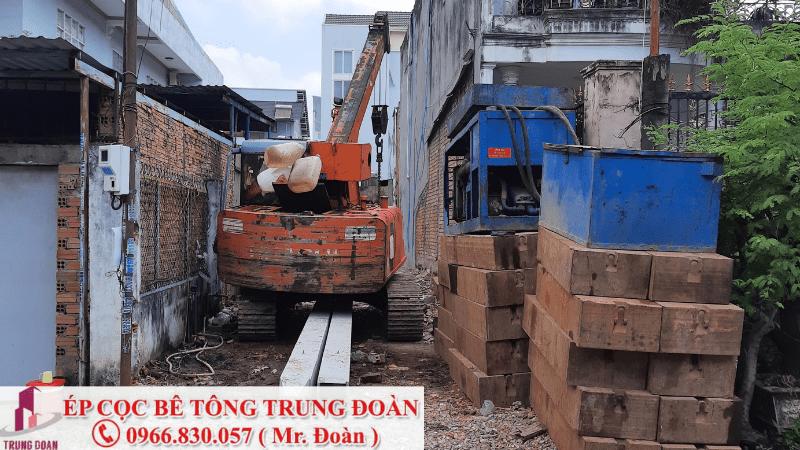 Ép tải cho công trình 2 tầng tại Biên Hòa