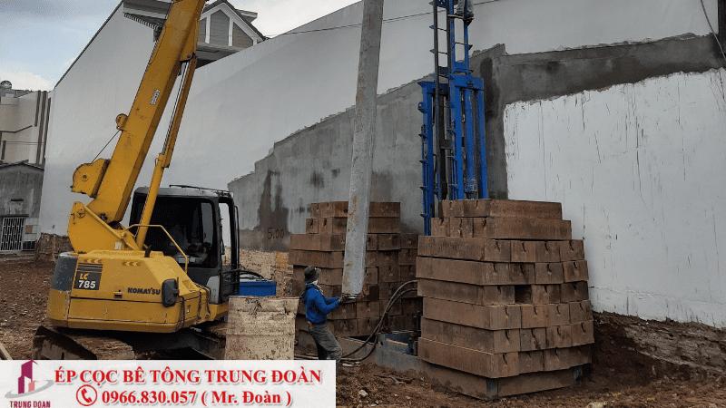 Ép tải cho công trình nhà phố tại Biên Hòa, Đồng Nai