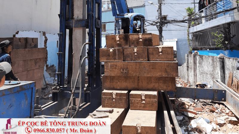 Ép cọc bê tông xây nhà 2 tầng, 3 tầng