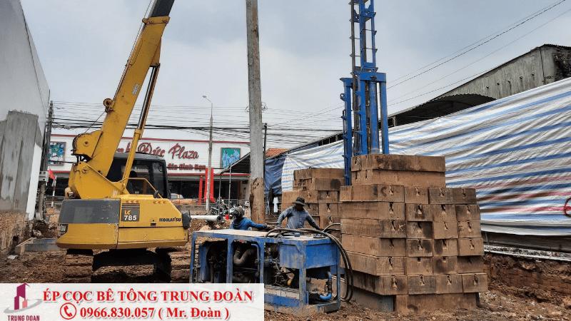 Công trình ép cọc tại cù lao Biên Hòa