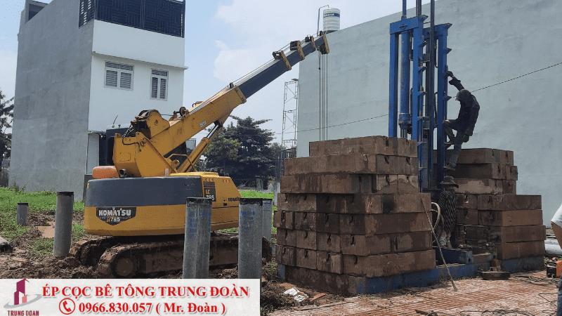 Ép cọc bê tông cho công trình dân dụng